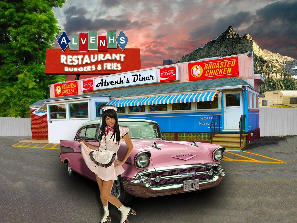 1950s diner wallpaper images