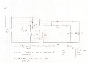 Modified Crystal Radio Schematic Diagram