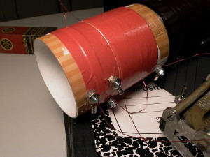 Adding binding posts to the coil.