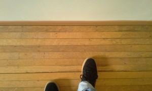 Old hardwood floor strips
