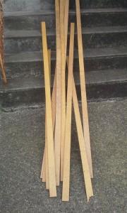 Bundle of hardwood flooring material