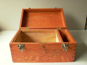 Stained wooden box