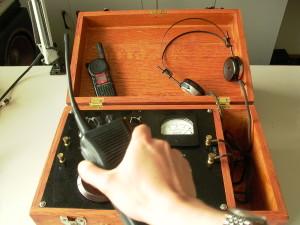 Testing the circuit.