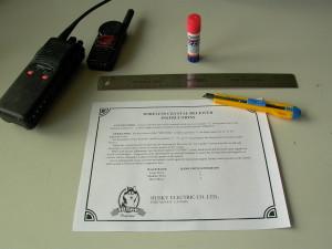 Making an instruction sheet.