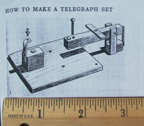 how to build a telegraph set the sounder the armature and other wooden parts can be built from scrap wood mine were built up from popsicle sticks below left simply stack to desired thickness